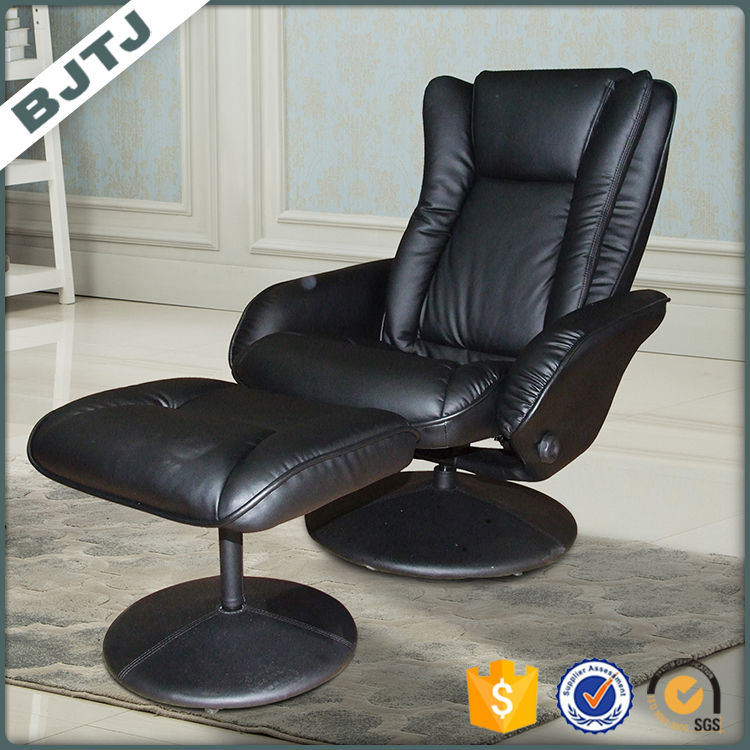 BJTJ Modern Classic Lounge Chair with Ottoman PU Leather Leisure chair 7672