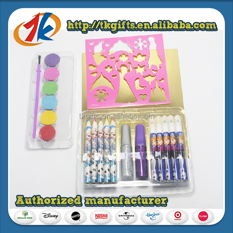 promotional high quality kids stationary set for kid
