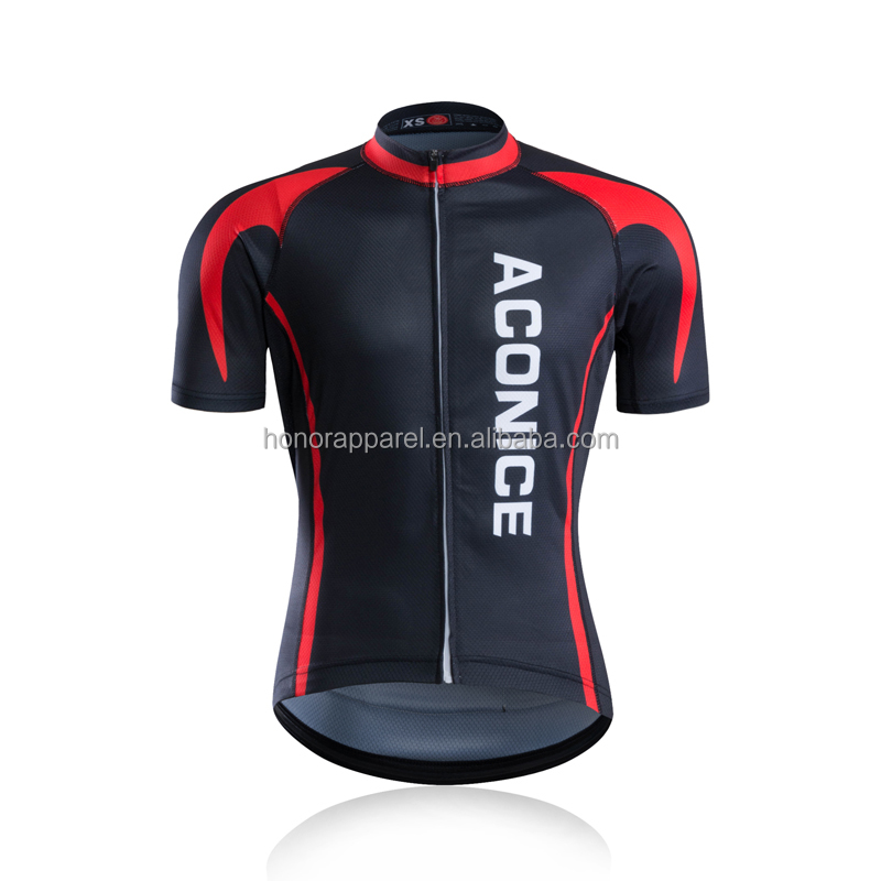 Chinese manufacturer custom OEM design cycling jersey design with Italian ink
