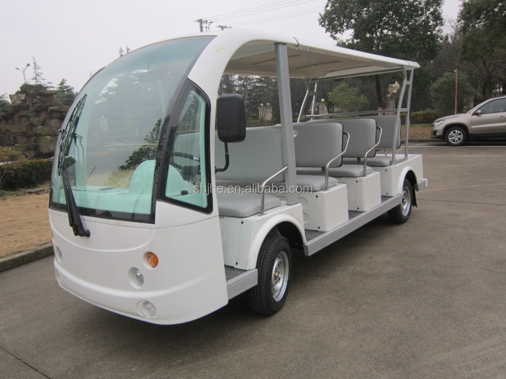 Battery 14 passenger electric sightseeing buggy with CE