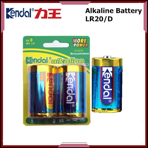 High capacity D LR20 Kendal/OEM alkaline battery