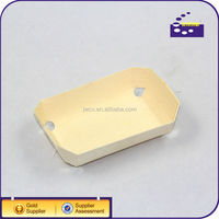 Square Disposable Wood Food Container, fast food tray/box