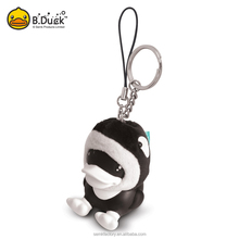 Hot Promotion Gifts custom novelty beautiful animal toy embroidered keychain