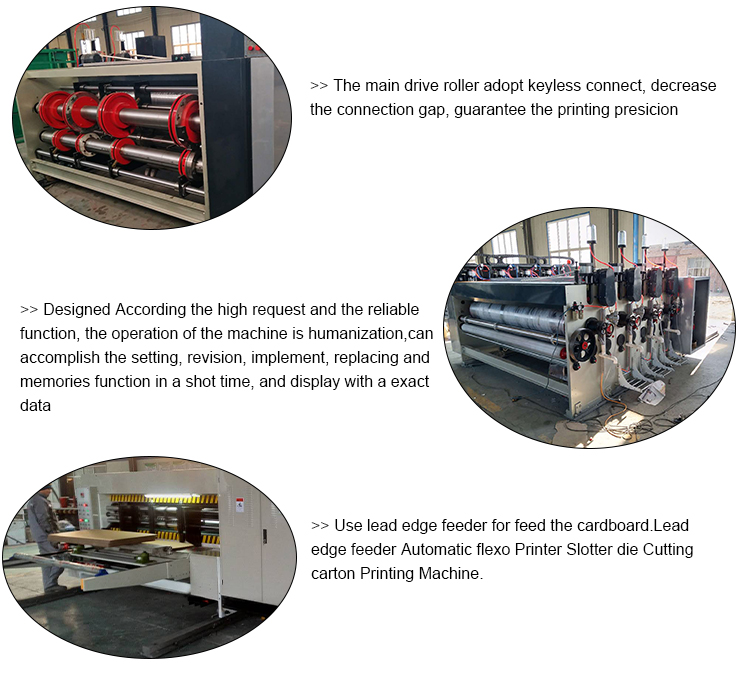 High speed  automatic carton box making corrugated printing slotting machine