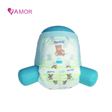 Softcare disposable plastic baby rubber diaper pants factory in china