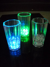 Halloween 8.5cm High Quality water activated flashing led shot glass