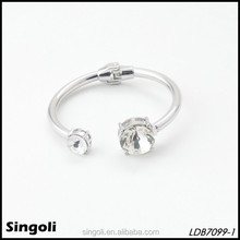 fashion elegant twins clear crystal expandable hinge bangle