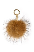 Wholesale Girl's Fashion Faux Fox Fur Pom-pom Plush Pompom Trim Keychain