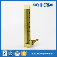 metal case glass red liquid thermometer without mercury