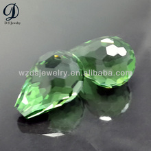 Glass teardrop briolette teardrop cut glass beads