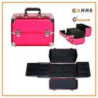 makeup artist rose red professional aluminum cosmetic case