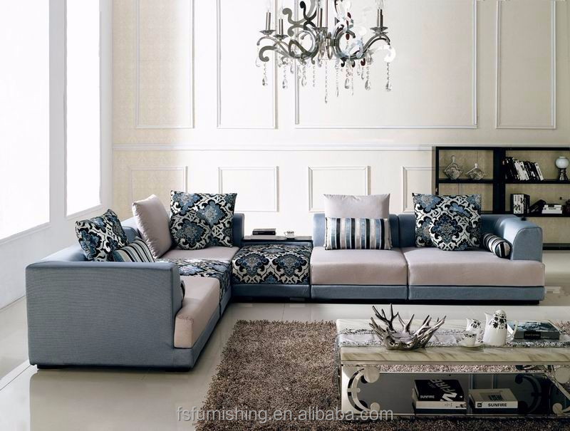 Md705 Modern Good Quality Velvet Fabric Arabic Large U Shape Living Room Salon Sectional Soft