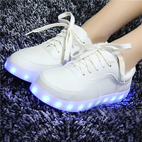Christmas gifts led lighting up shoes casual women 2016