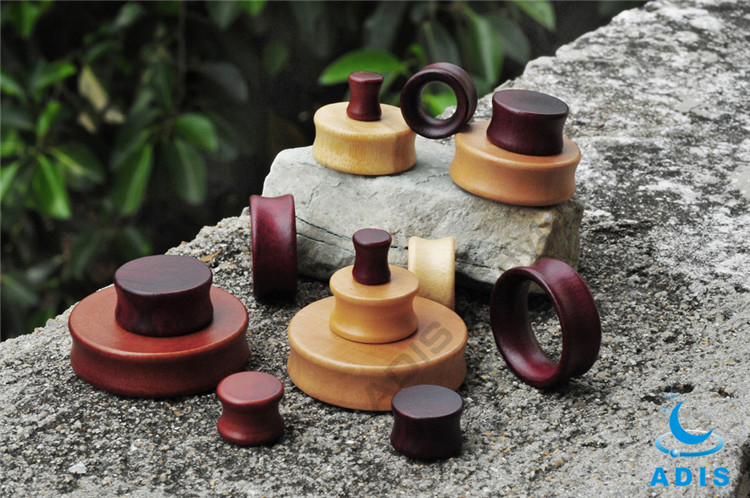 New arrival Natural wood ear plug tunnel body jewelry
