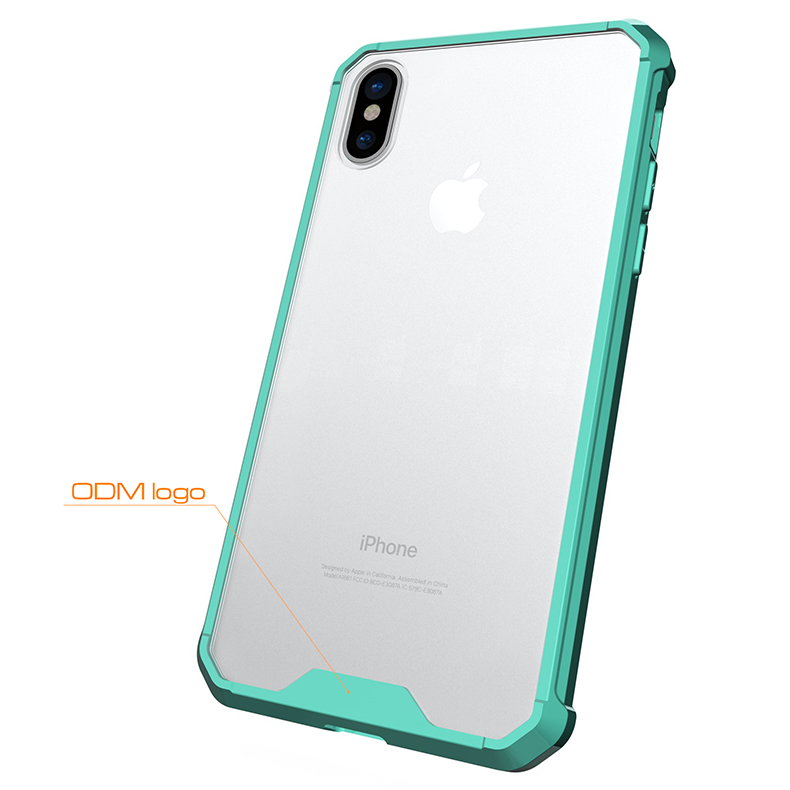 Wholesale Transparent Armor knockproof pc+tpu smart phone case for iphone 8