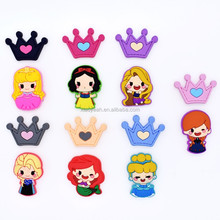 Wholesale Low MOQ Cheap Cute Princess Crown Shoe Lace Charms Accessory For Girl