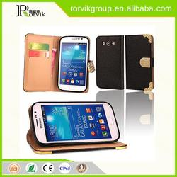 beautiful patterns of mobile phone leather holster for Samsung I9082