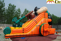 CILE Hot New Super Amusement Park Axe Man Slide for Above Ground Inflatable Pool