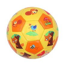 Customed Mini Size 3/2 PU/TPU/PVC Colorful machine stitched cartoon indoor football soccer ball For Kids