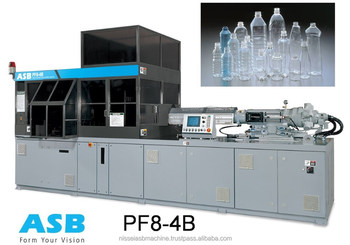 PET Beverage Bottle Stretch Blow Molding Machine PF8 - 4B