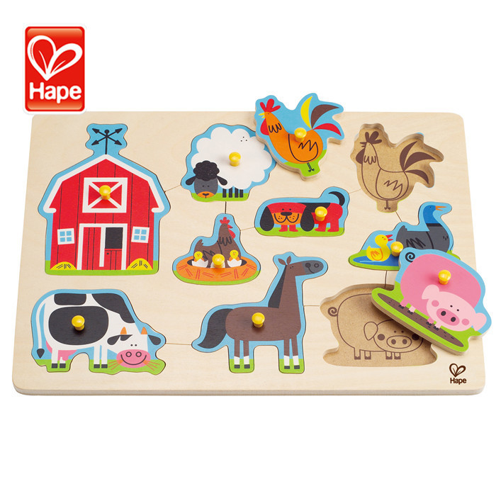 Wholesale educational Farm Animals eco-friendly pictures to puzzles