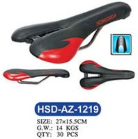 Black and Red Imitation Leather Cover Bike Saddle
