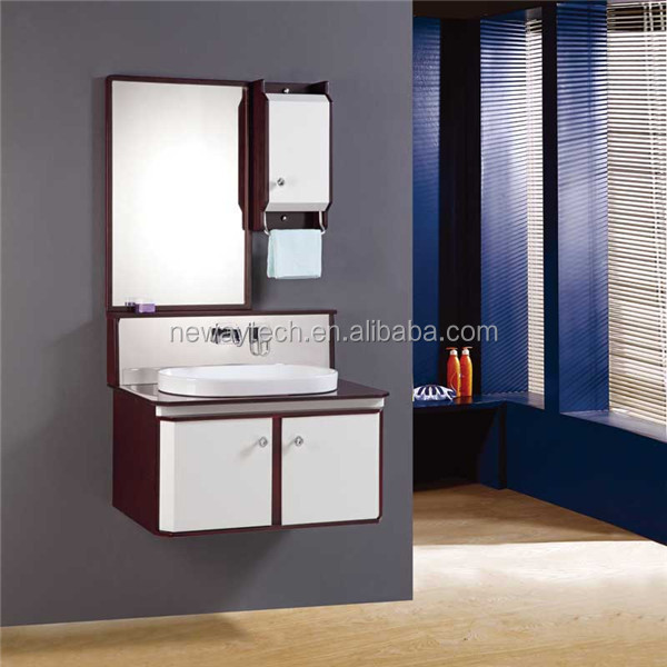 New design PVC vanity bathroom wall vanity high gloss