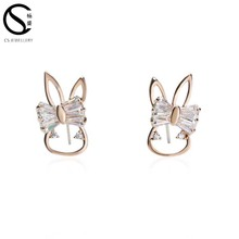 From China supplies butterfly shaped gold cartoon earrings
