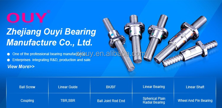 OUY facotry produce cnc machine ball screw parts ball screw and nut with nut housing and end machine supports