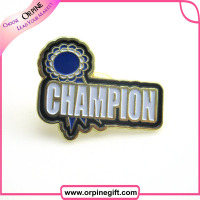 newest free sample lapel pin badge with rubber butterfly clip