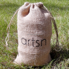 Promotional natural burlap Pouches, Jute Pouch Bag drawstring