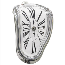 UCHOME Home Decor Plastic Antique Clock Dali Melting Wall Clock