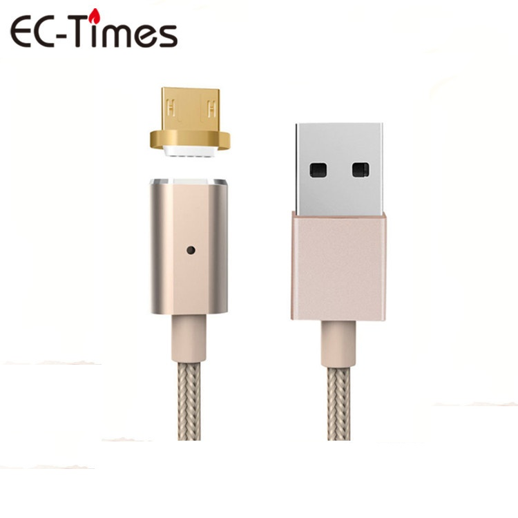 Magnet Charging Cable Magnetic USB Adapter 2 in 1 High Quality Nylon Braided USB Cable