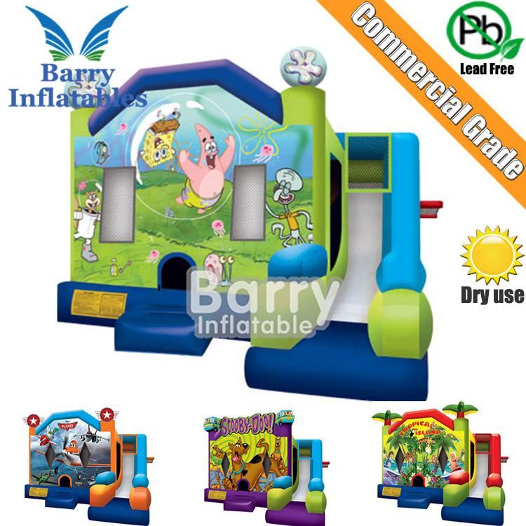Commercial inflatable bouncer slide combo/inflatable bounce house/inflatable bouncer with slide