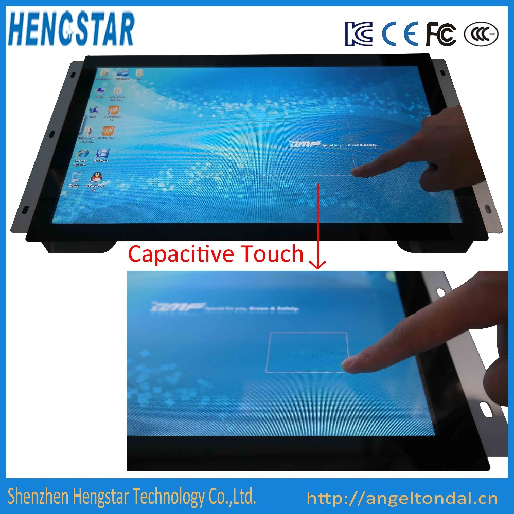 18.5'' IPS Open Frame Touch Industrial Monitor with VESA Mount
