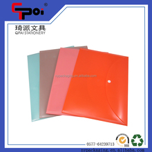 Wholesale School Stationery Printing PP A4 Document Bag With Button File Folder