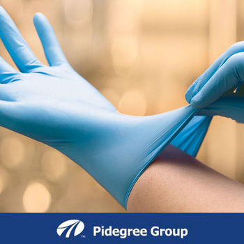 Disposable blue powder free and powder nitrile work examination gloves