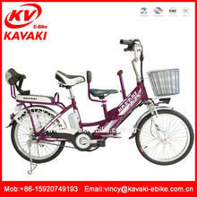 Best selling family bicycle with three seat to children seat electric bike kit lithium battery for three people