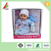 China 14-inch left and right sound IC fill cotton made baby toys and dolls