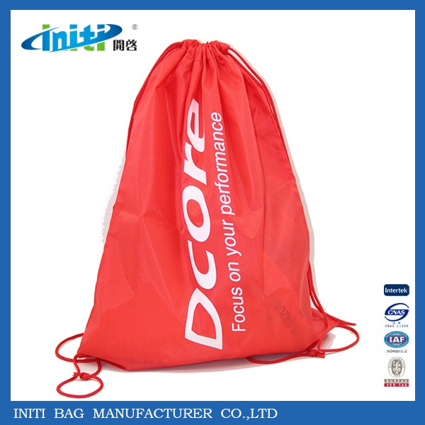 High Quality Wholesale Customized Drawstring Gym Bag For Sports