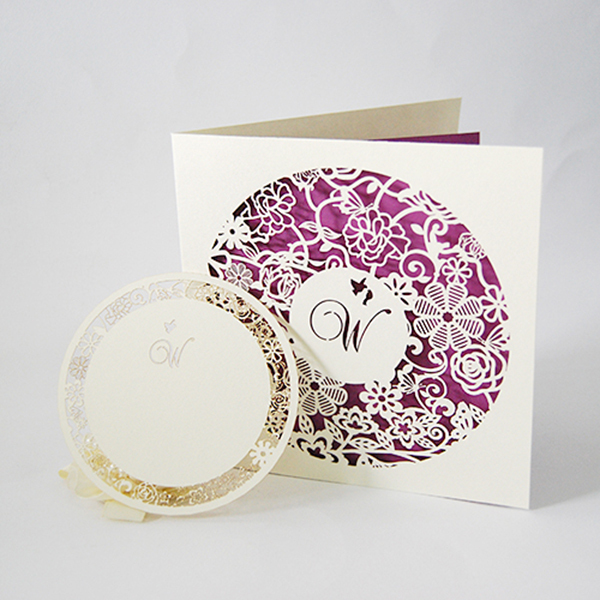 Fancy paper fairy handmade 3d pop up luxurious wedding invitation card