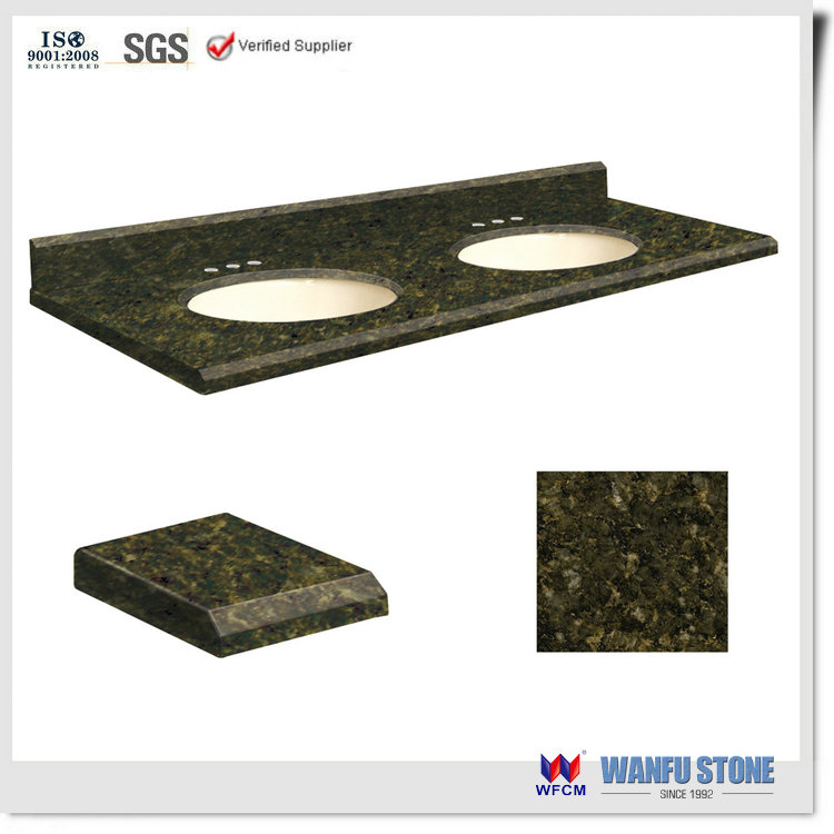 Hot Sale Indoor Bathroom Green Granite Countertop & Vanity Top