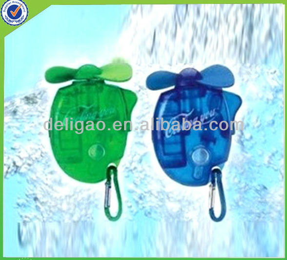 Hot selling Carabiner keychain plastic handheld mini fan