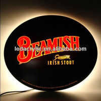 Bespoke Plexiglass Oval Light Box