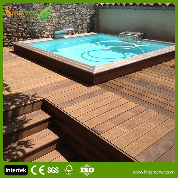 Hidden fasteners design swimming pool composite decking for 50000 pool design
