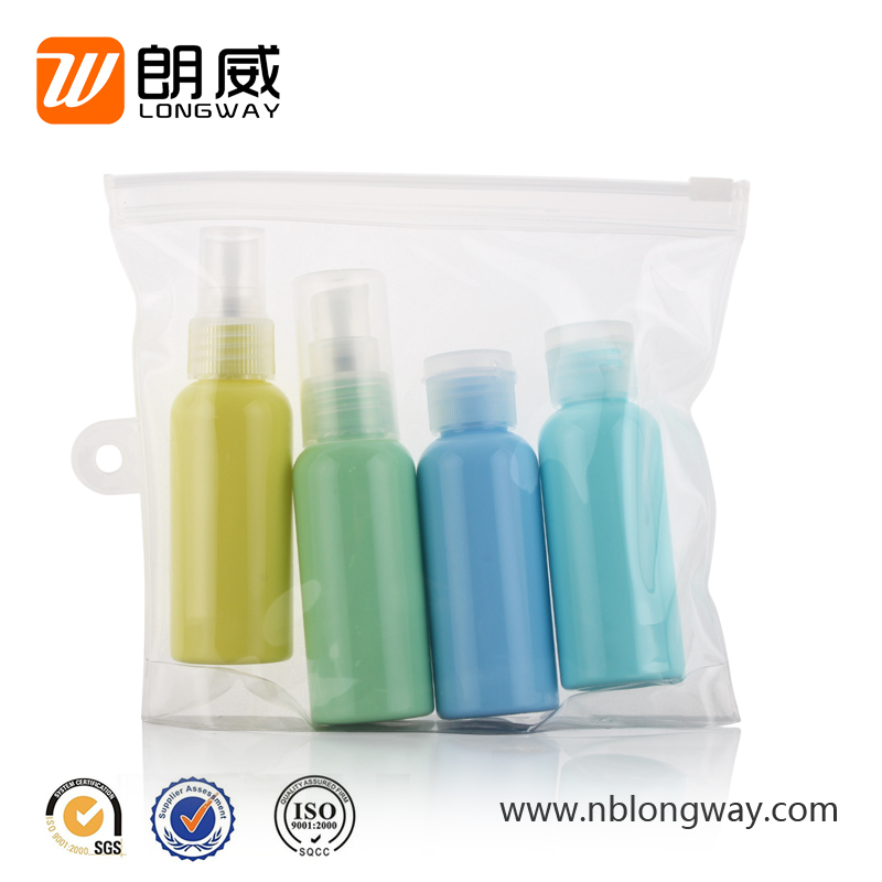 sgs new design plastic travel bottle set