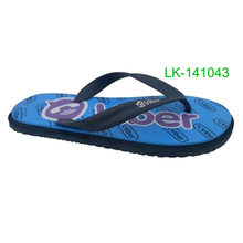 New Design Style EVA Slippers Man Print Logo Flat Beach Flip Flops