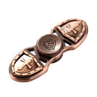 Sanke 2017 classic two leaves brass hand spinner For Adults & Kids
