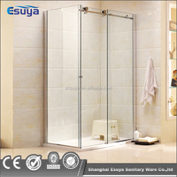 beautiful shower room curved glass mini shower room pivot open shower enclosure