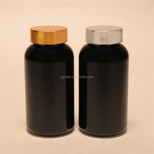recycled plastic bottles wholesale PET pill bottle with gold screw cap